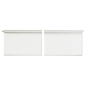United States Ceramic Tile Color White Ceramic Wall Tile (Common: 4-in x 4-in; Actual: 6-in x 4-in)