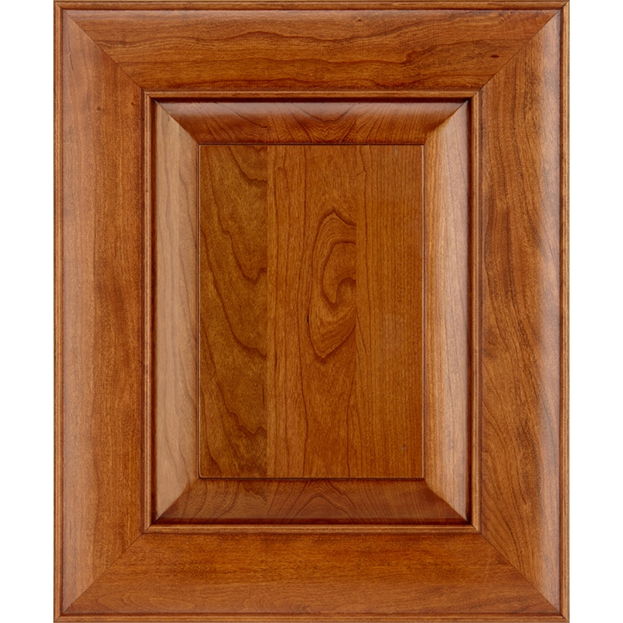 Shop Schuler Cabinetry Verona 17 5 In X 14 5 In Pecan Cherry Square Cabinet Sample At