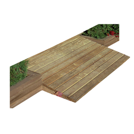 Shop Backyard Organizer Natural Wood Storage Shed Ramp at Lowes.com