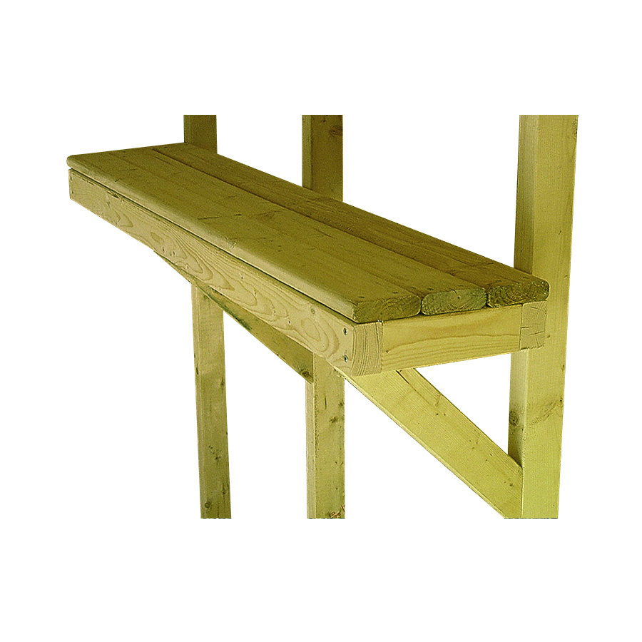 Shop Backyard Organizer Natural Wood Storage Shed Shelf at Lowes.com