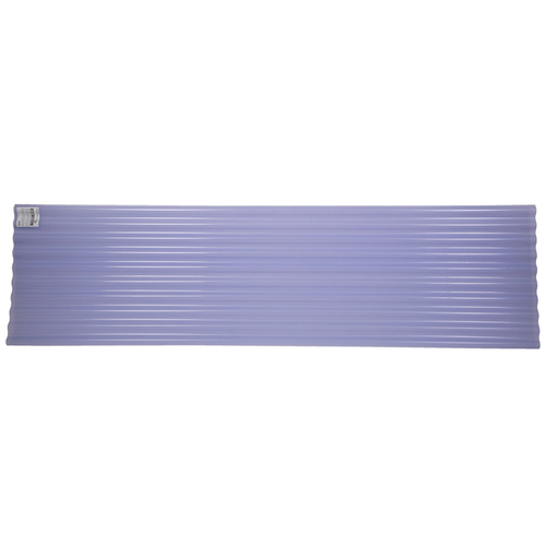 Tuftex 144 x 26 Clear Corrugated Plastic Roof Panel at Lowes