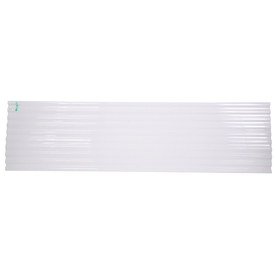 Tuftex 96-in White Corrugated Polycarbonate Roof Panel