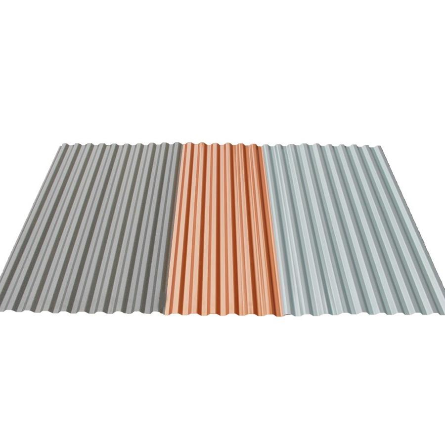 Tuftex Polydecor 2 17 Ft X 3 5 Ft Corrugated Gray Polycarbonate Plastic Roof Panel In The Roof Panels Department At Lowes Com