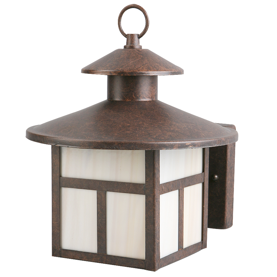 Rustic Brown Wall Lights : Shop Portfolio 9-7/8-in Rustic Brown Outdoor Wall Light at Lowes.com