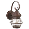 Portfolio 12-3/8-in Rustic Brown Outdoor Wall Light