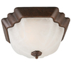 Portfolio 13-in Rustic Brown Ceiling Flush Mount
