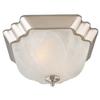 Portfolio 13-in W Brushed Nickel Ceiling Flush Mount Light