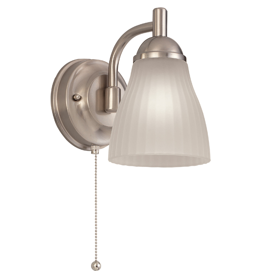 Shop Portfolio Brushed Nickel Bathroom Vanity Light At