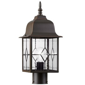 Portfolio Litshire 17-in H Oil-Rubbed Bronze Post Light