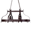 Portfolio 22.12-in W 2-Light Antique Bronze Hardwired Lighted Pot Rack with Shade