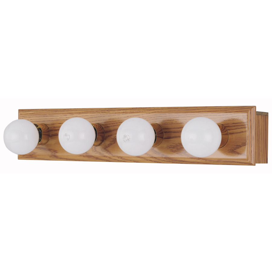Vanity Lights With Wood : Shop Style Selections 4-Light Wood Bathroom Vanity Light at Lowes.com