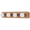 Style Selections 4-Light Wood Bathroom Vanity Light