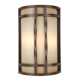 Portfolio 8-in W 2-Light Antique Bronze Pocket Hardwired Wall Sconce