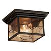 Portfolio Litshire 9.05-in W Oil Rubbed Bronze Outdoor Flush-Mount Light