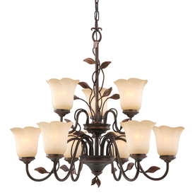 allen + roth 9-Light Eastview Bronze Chandelier