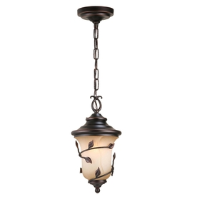 allen + roth Eastview 15-1/4-in Bronze Outdoor Pendant Light