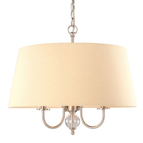 "Zoomed: Portfolio 20""W Brushed Nickel Pendant Light with Tinted Shade"