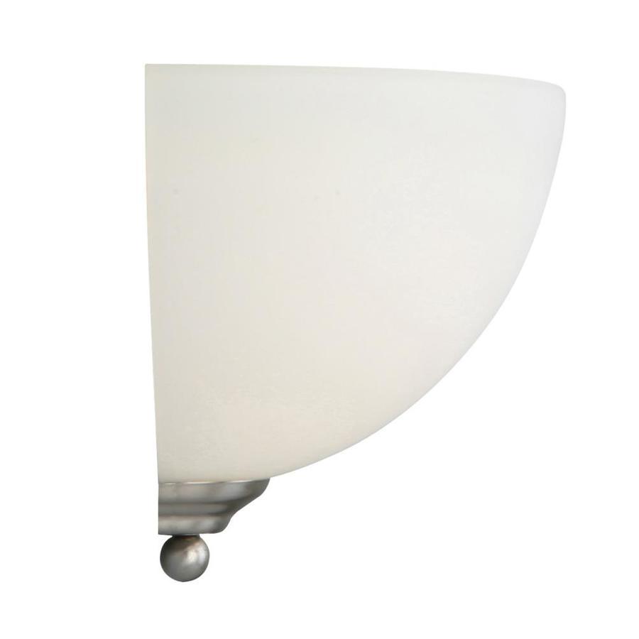 Brushed Nickel Wall Sconce 10 Inch W 1-Light Living Room Bedroom Fixture New Portfolio 361923