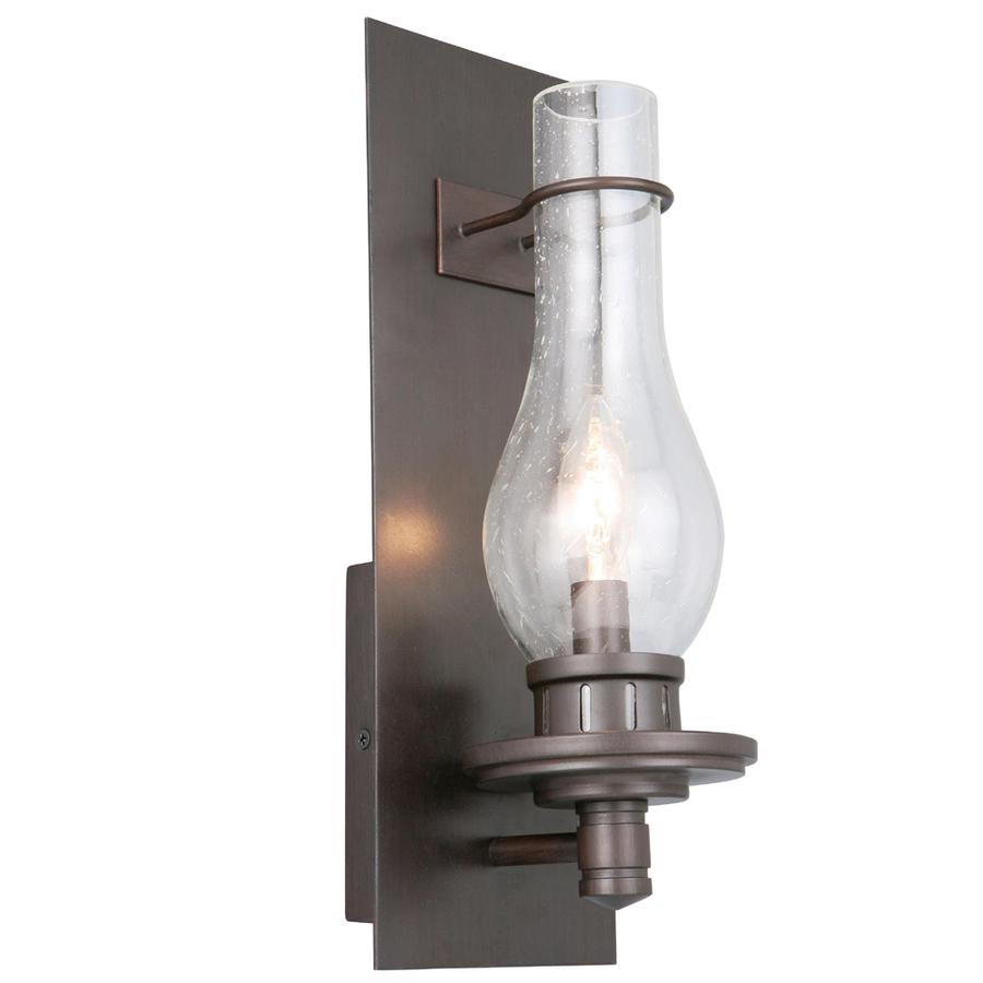 Shop Portfolio Resplend 5.12-in W 1-Light Dark Oil-Rubbed Bronze (Ab-9) Pocket Hardwired Wall ...