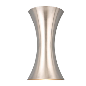 Shop Style Selections 6.75-in W 2-Light Brushed Nickel Finish