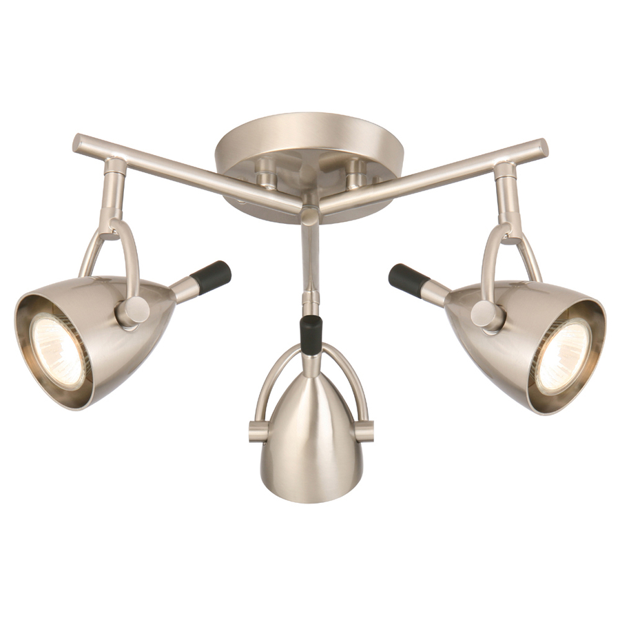light brushed nickel flush mount fixed track light kit at. Black Bedroom Furniture Sets. Home Design Ideas