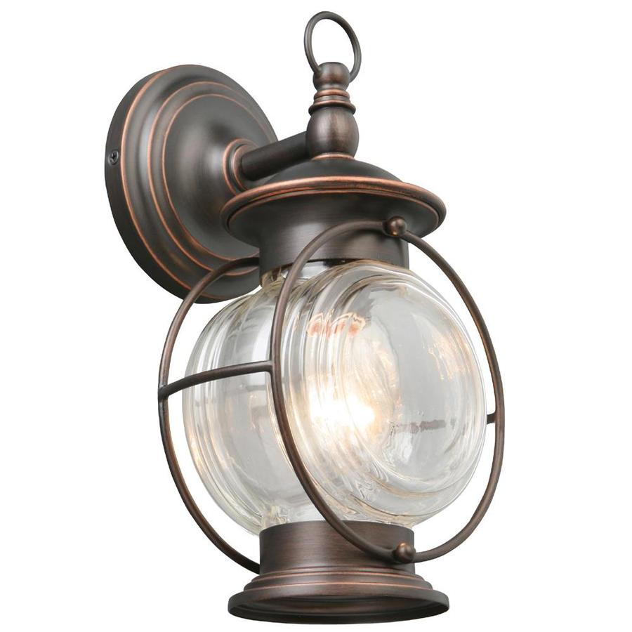 Outdoor Wall Light Fixtures Lowes : Shop Portfolio Caliburn 12.25-in H Bronze Outdoor Wall Light at Lowes.com
