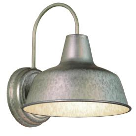 Portfolio Ellicott 13-1/8-in Galvanized Dark Sky Outdoor Wall Light