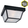 Portfolio 10.37-in Black Outdoor Flush-Mount Light