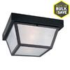 Portfolio 10.37-in W Black Outdoor Flush-Mount Light