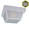 Portfolio 10.37-in White Outdoor Flush-Mount Light