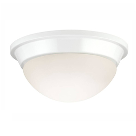Project Source 8.75-in W White Ceiling Flush Mount