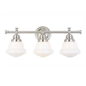 Shop Allen Roth 3 Light Brushed Nickel Bathroom Vanity