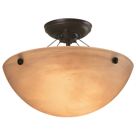 Display Product Reviews For 14.12 In W Oil Rubbed Bronze Alabaster Glass  Semi