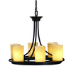allen + roth Harpwell 20.08-in 6-Light Bronze Tinted Glass Standard Chandelier