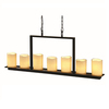 allen + roth Harpwell 4.53-in 7-Light Bronze Tinted Glass Standard Chandelier