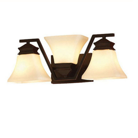 Vanity Lights Shine Up Or Down : Shop allen + roth 3-Light Oil-Rubbed Bronze Bathroom Vanity Light at Lowes.com