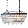 allen + roth Eberline 11.81-in 4-Light Bronze Crystal Standard Chandelier