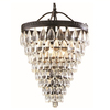 allen + roth Eberline 12.76-in W Oil-Rubbed Bronze Pendant Light with Crystal Shade