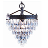 allen + roth Eberline 9.06-in W Oil-Rubbed Bronze Pendant Light with Crystal Shade