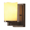allen + roth Harpwell 4.5-in W 1-Light Bronze Directional Hardwired Wall Sconce