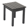 Garden Treasures 20-in Black Rectangle Wood Patio Side Table
