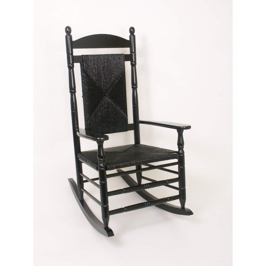 Shop Hinkle Chair Company Black Outdoor Rocking Chair at Lowes.com