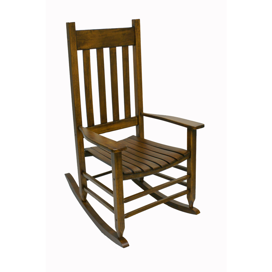 ... Treasures Natural Wood Slat Seat Outdoor Rocking Chair at Lowes.com