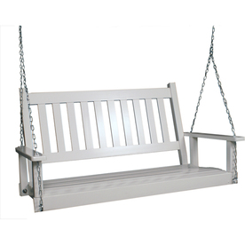 Garden Treasures 2-Seat Wood Traditional White Swing
