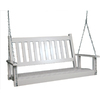 Garden Treasures 2-Seat Wood Traditional White Swing 854PSWRTA
