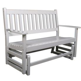 Garden Treasures 2-Seat Wood Traditional White Glider