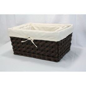 Real Organized Wicker Basket
