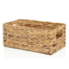 allen + roth 7.15-in W x 5.5-in H x 14.25-in D Natural Water Hyacinth Basket