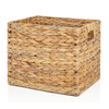 allen + roth 10.7-in W x 11-in H Natural Water Hyacinth Milk Crate