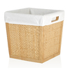 allen + roth 10.5-in W x 11-in H x 10.5-in D Natural Bamboo Bin